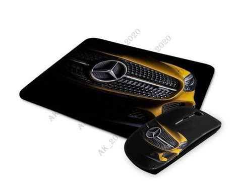 Mercedes mousepad mouse pad + wireless computer optical