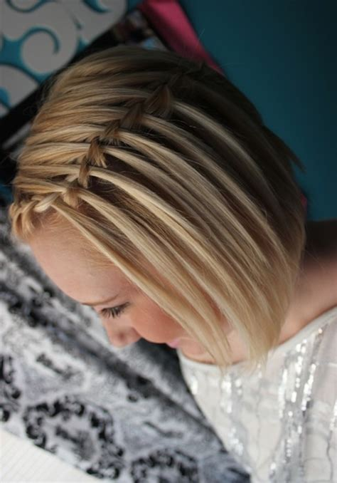 Waterfall Braid with Short Hair: French Braided Hairstyles