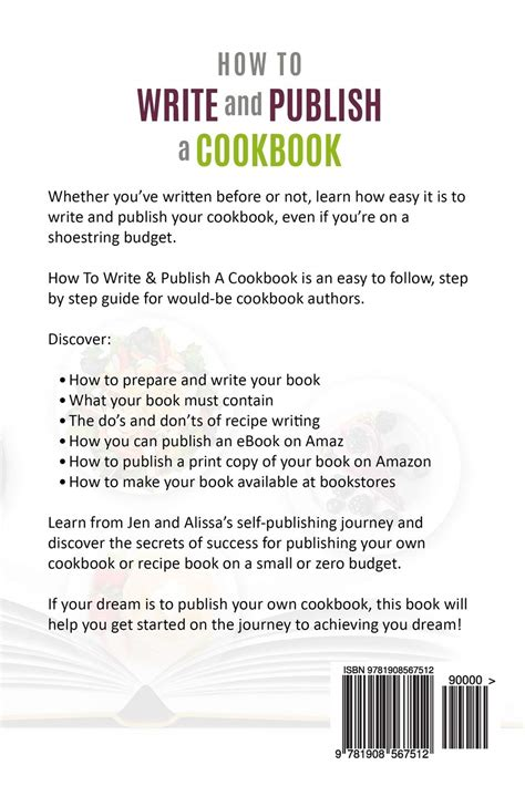 How to write a recipe book and get it published
