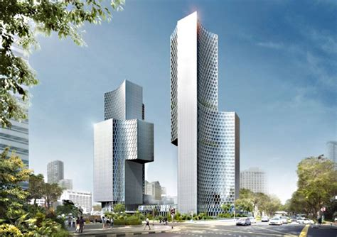ole scheeren unveils plans for the twin towers duo in