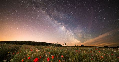 Amazing outer space views of Milky Way viewed from Isle of