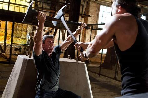 Sylvester Stallone still flexing his muscles