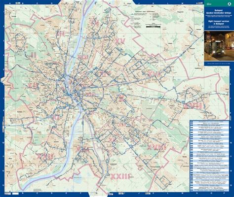 Budapest Night Bus Routes Map - Budapest Hungary • mappery