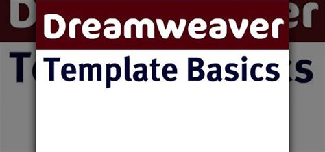 How to Use basic template tools in Adobe Dreamweaver CS4