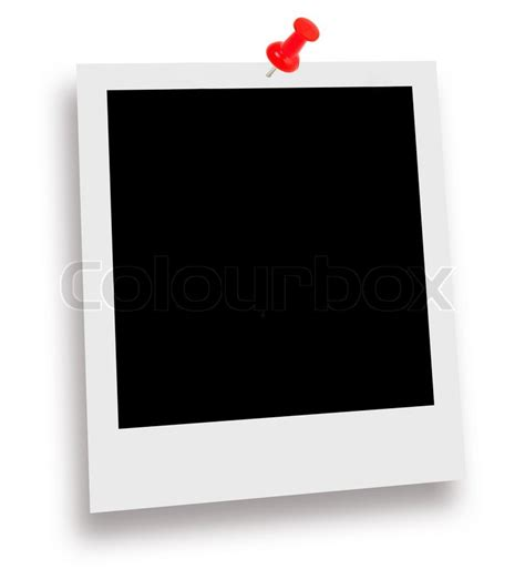 Blank instant photo print isolated on a white | Stock