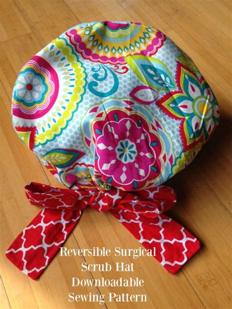 Scrub Hat Sewing Pattern DIY Reversible Lined Surgical