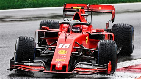 Charles Leclerc fastest at Monza in rain-hit session