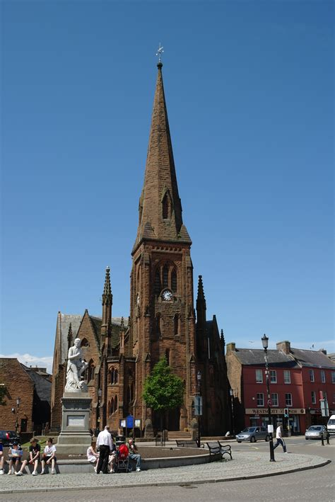 File:Burns Statue and Greyfriars, Dumfries